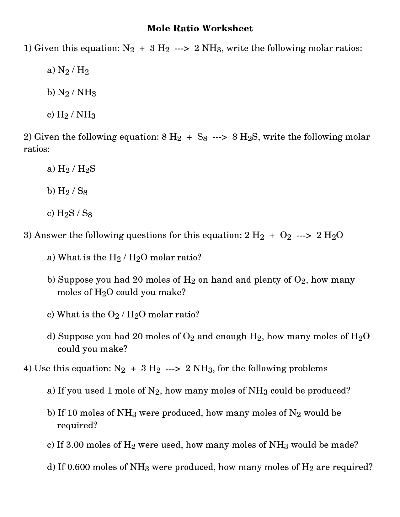 10 Best Images Of Stoichiometry Worksheet 2 Answer Key