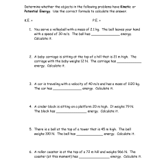 Potential Energy Diagram Worksheet Key 3 Layers Of Soil 17 Best Images Practice Problems