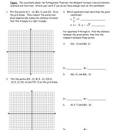 Fun Coordinate Plane Worksheet   Printable Worksheets and Activities for  Teachers [ 1650 x 1275 Pixel ]