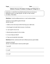 15 Best Images of 7th Grade Pronouns Worksheets