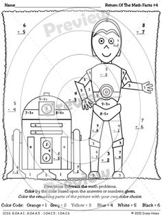 Star Wars Math Worksheets Printable Sketch Coloring Page