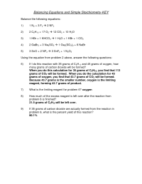 10 Best Images of Stoichiometry Worksheet 2 Answer Key ...
