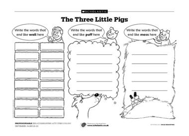 16 Best Images of Three Little Pigs Preschool Worksheet