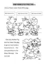 16 Best Images of Three Little Pigs Preschool Worksheet