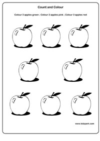 17 Best Images of Apple Counting Worksheet Preschool