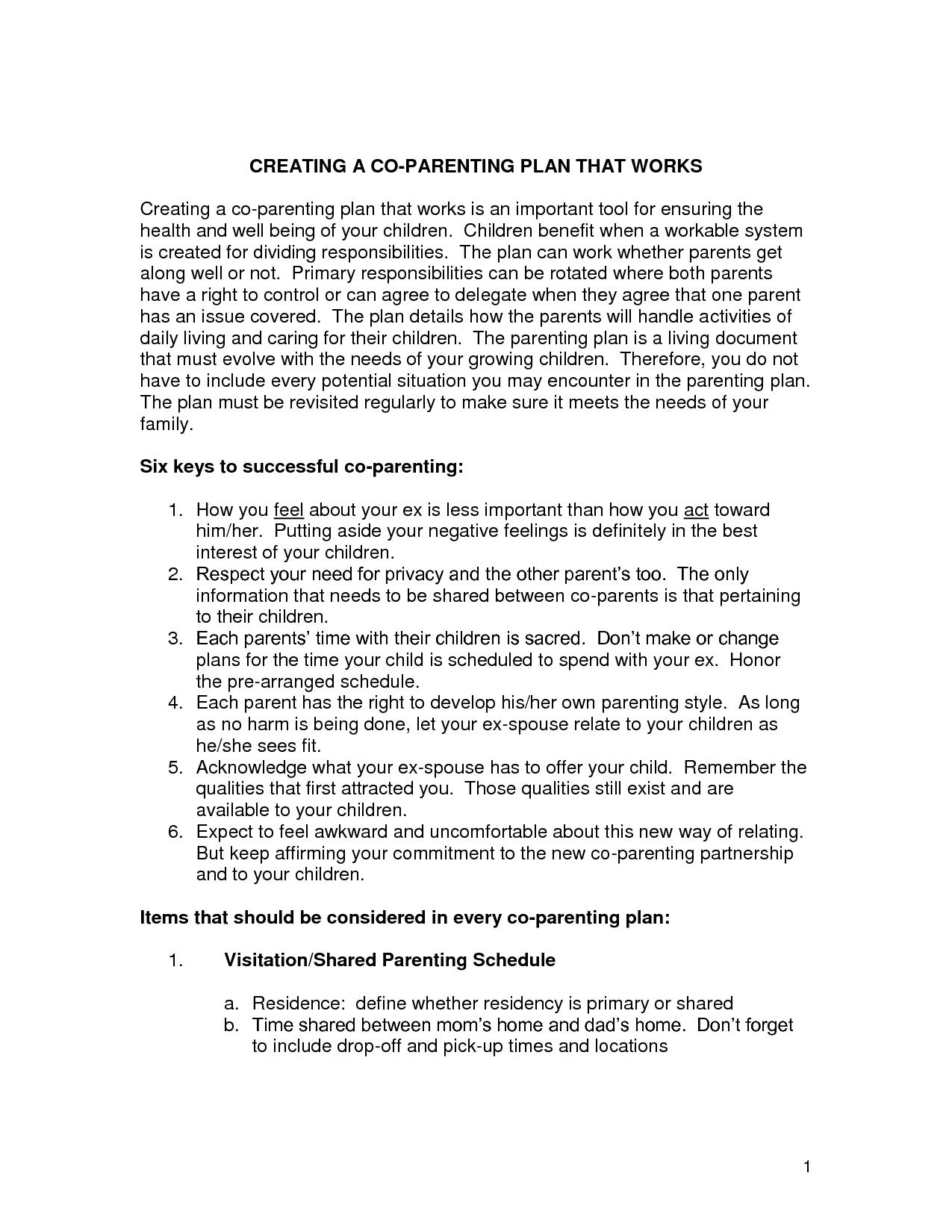 Authoritative Parenting Worksheet