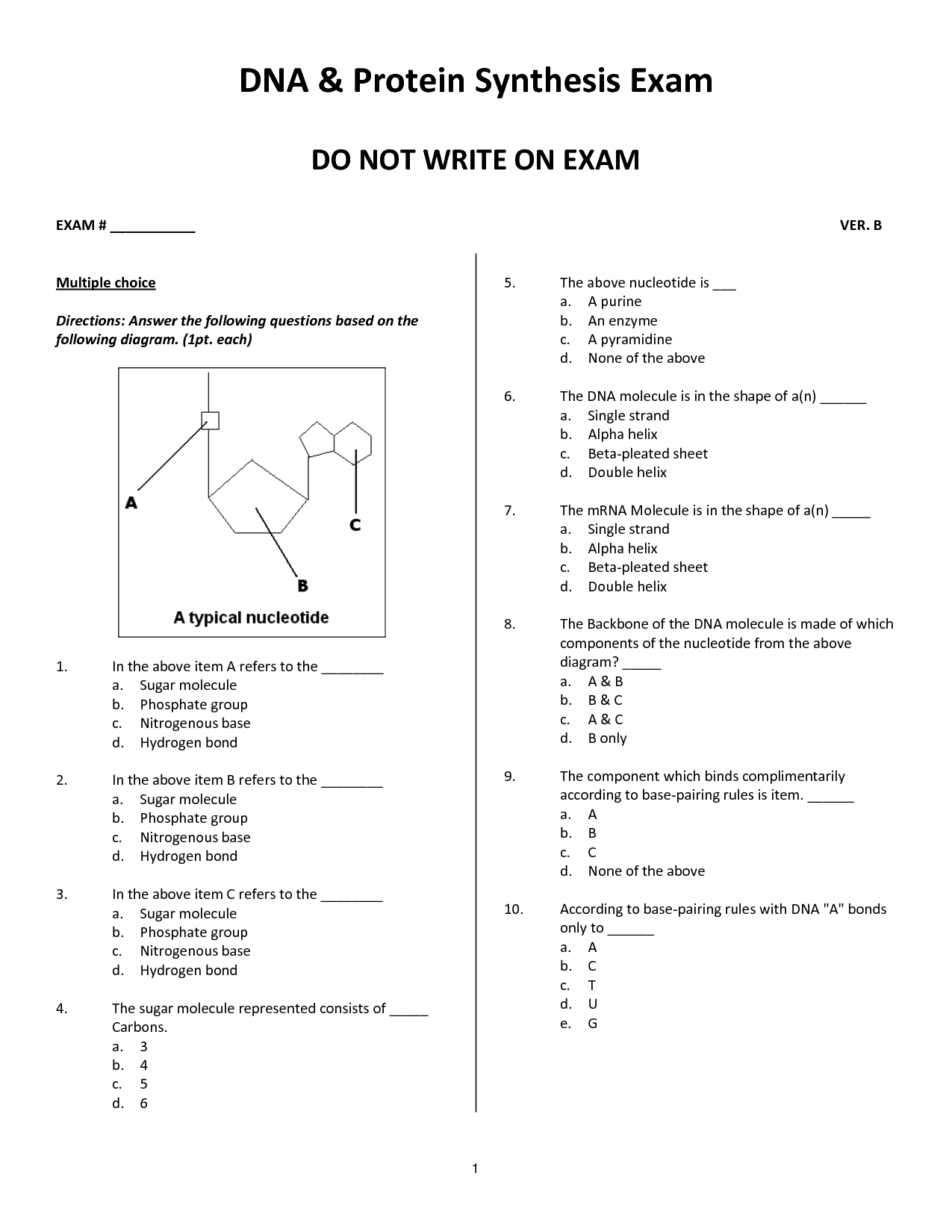 dna diagram worksheet 1 light 2 switches wiring 10 best images of protein synthesis