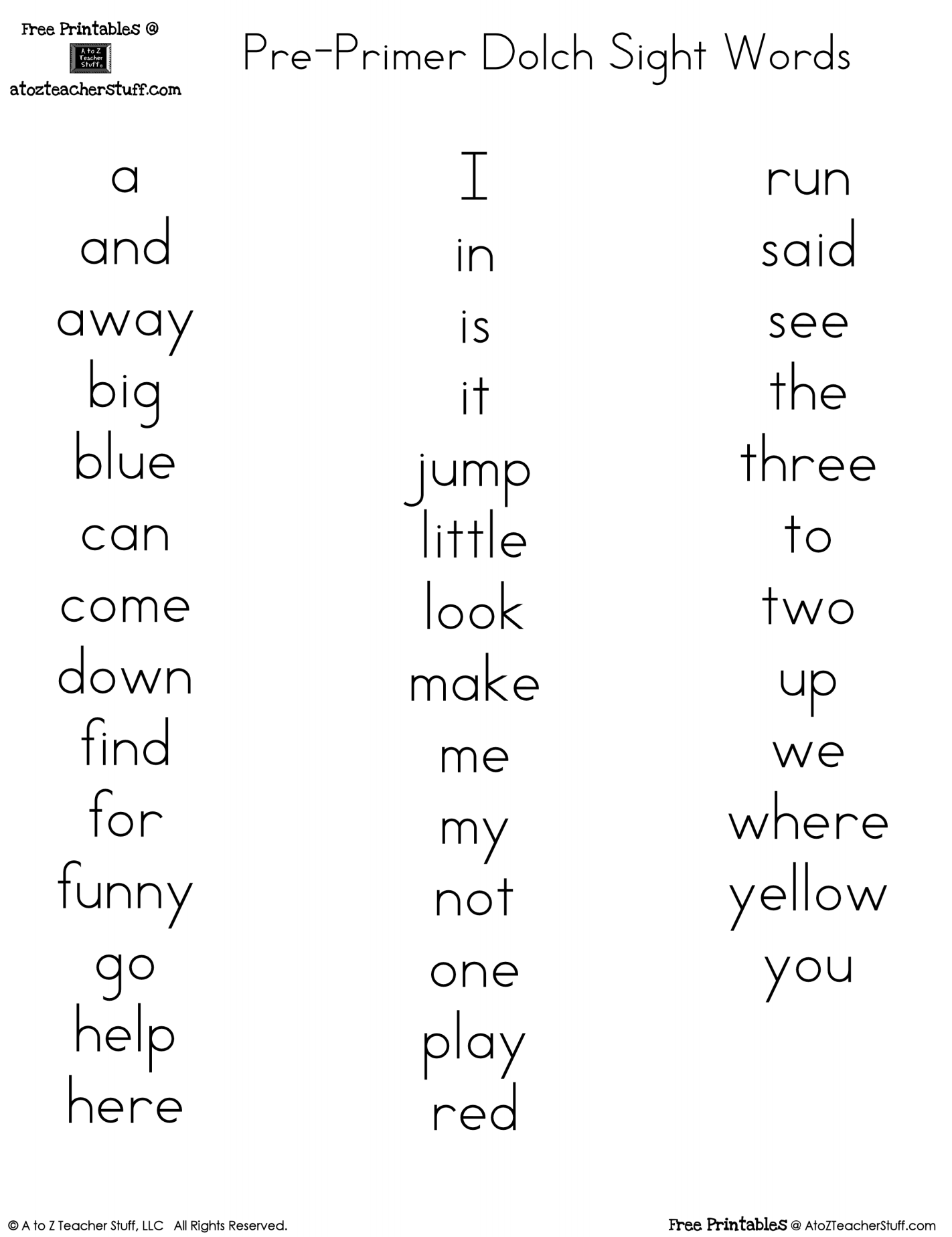 14 Best Images Of Dolch Sight Word Practice Worksheets