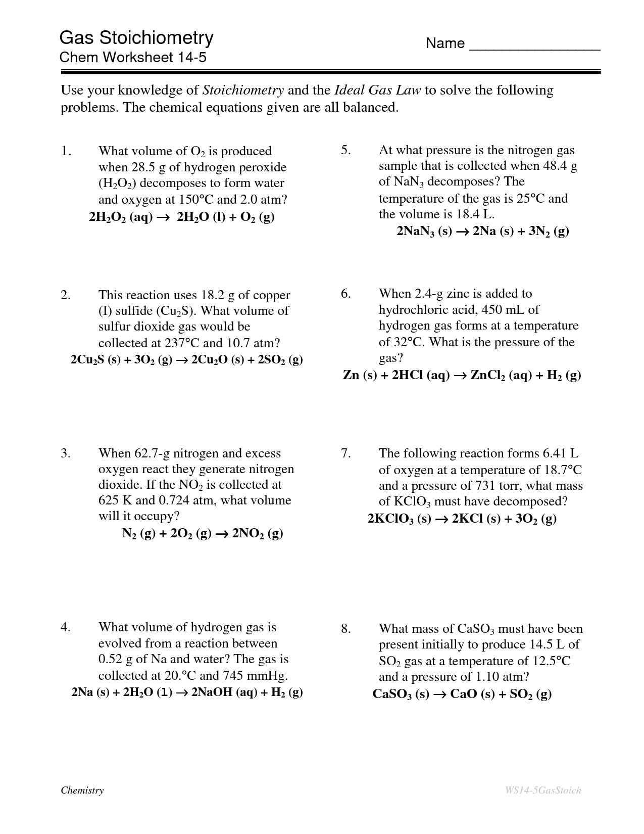16 Best Images Of Boyle S Law Worksheet With Answers