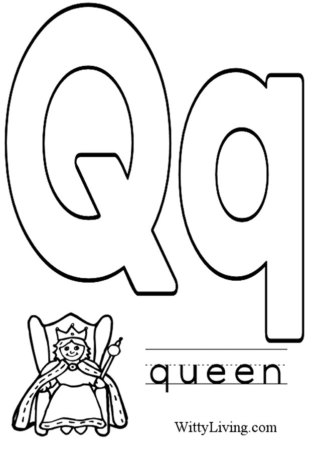 11 Best Images of Letter Q Coloring Pages And Worksheets