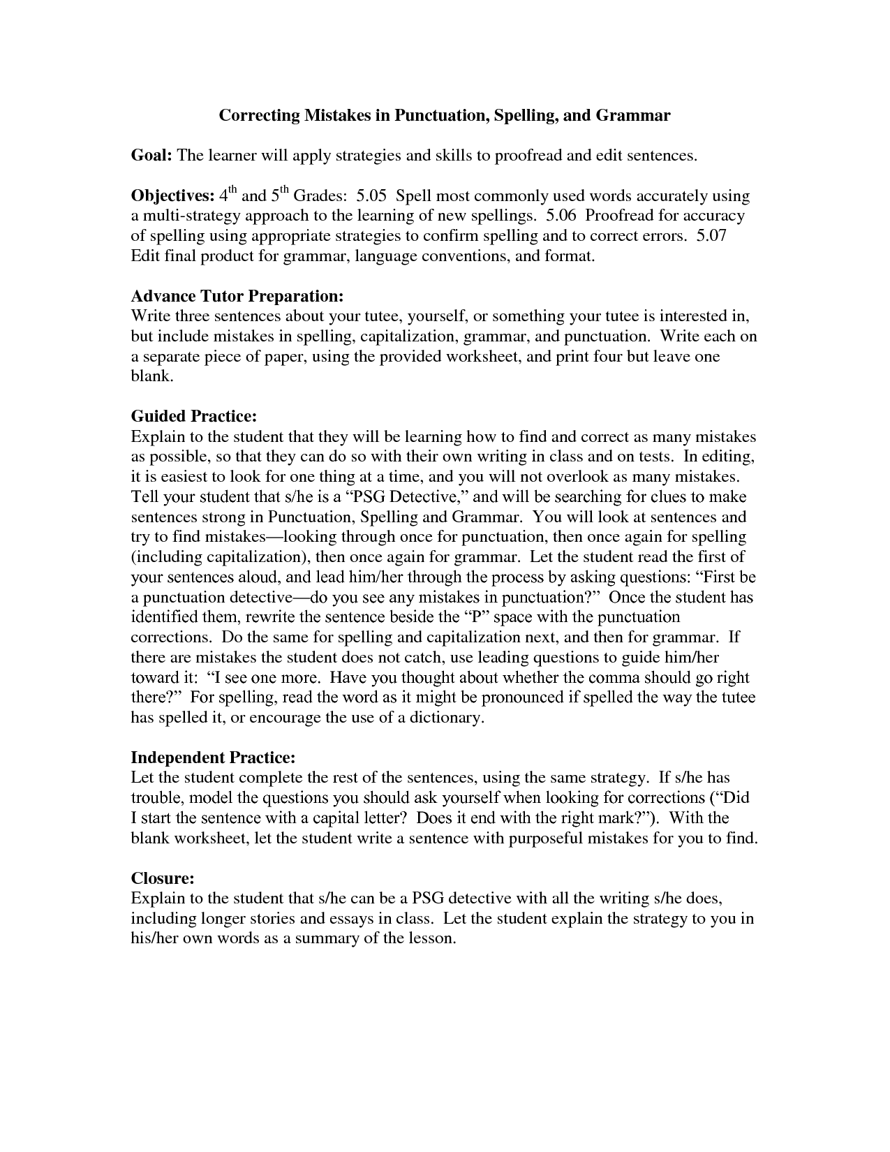 Worksheet Capitalization Worksheets 4th Grade Grass
