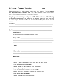 10 Best Images of Short Story Elements Worksheet - Short ...
