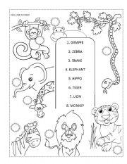 12 Best Images of Zoo Worksheets Preschool Printables