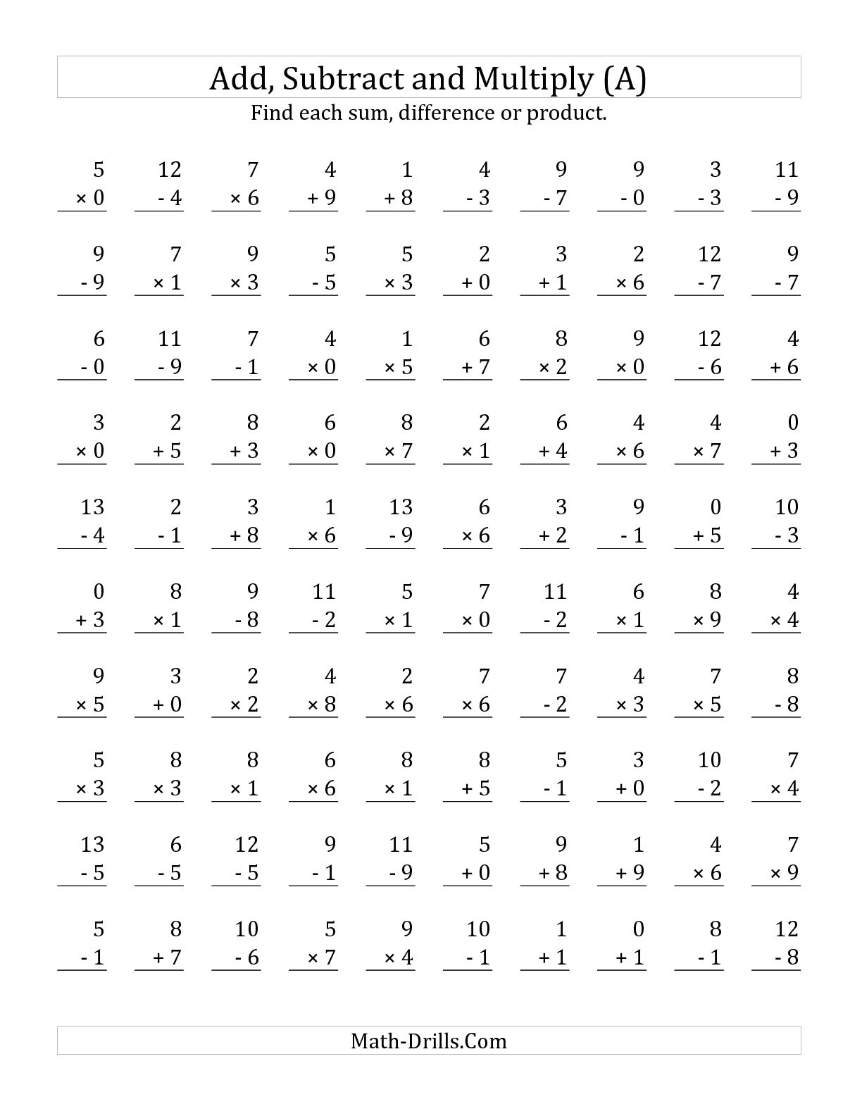 13 Best Images Of Mixed Multiplication Practice Worksheet