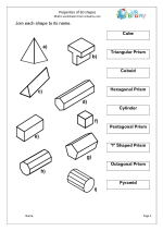 13 Best Images of Math Worksheets Vertices Edges Faces