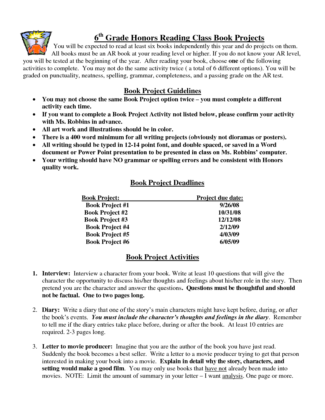 Free Printable 6th Grade Worksheet