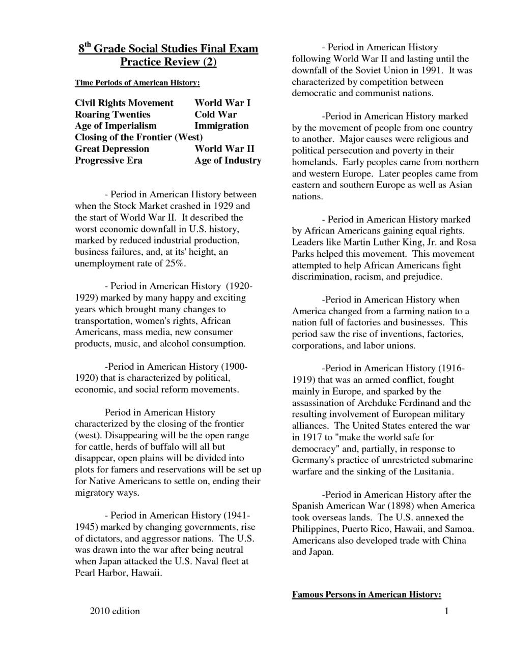 medium resolution of 8th Grade Social Stu S Printable Worksheets   Printable Worksheets and  Activities for Teachers