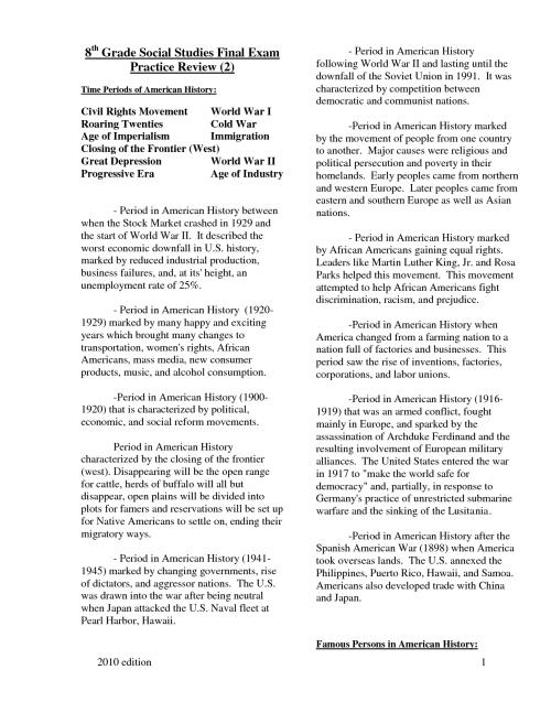 small resolution of 8th Grade Social Stu S Printable Worksheets   Printable Worksheets and  Activities for Teachers