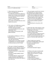 17 Best Images of Articles Of Confederation 1 7 Worksheet