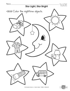 18 Best Images of Day And Night Animals Worksheet