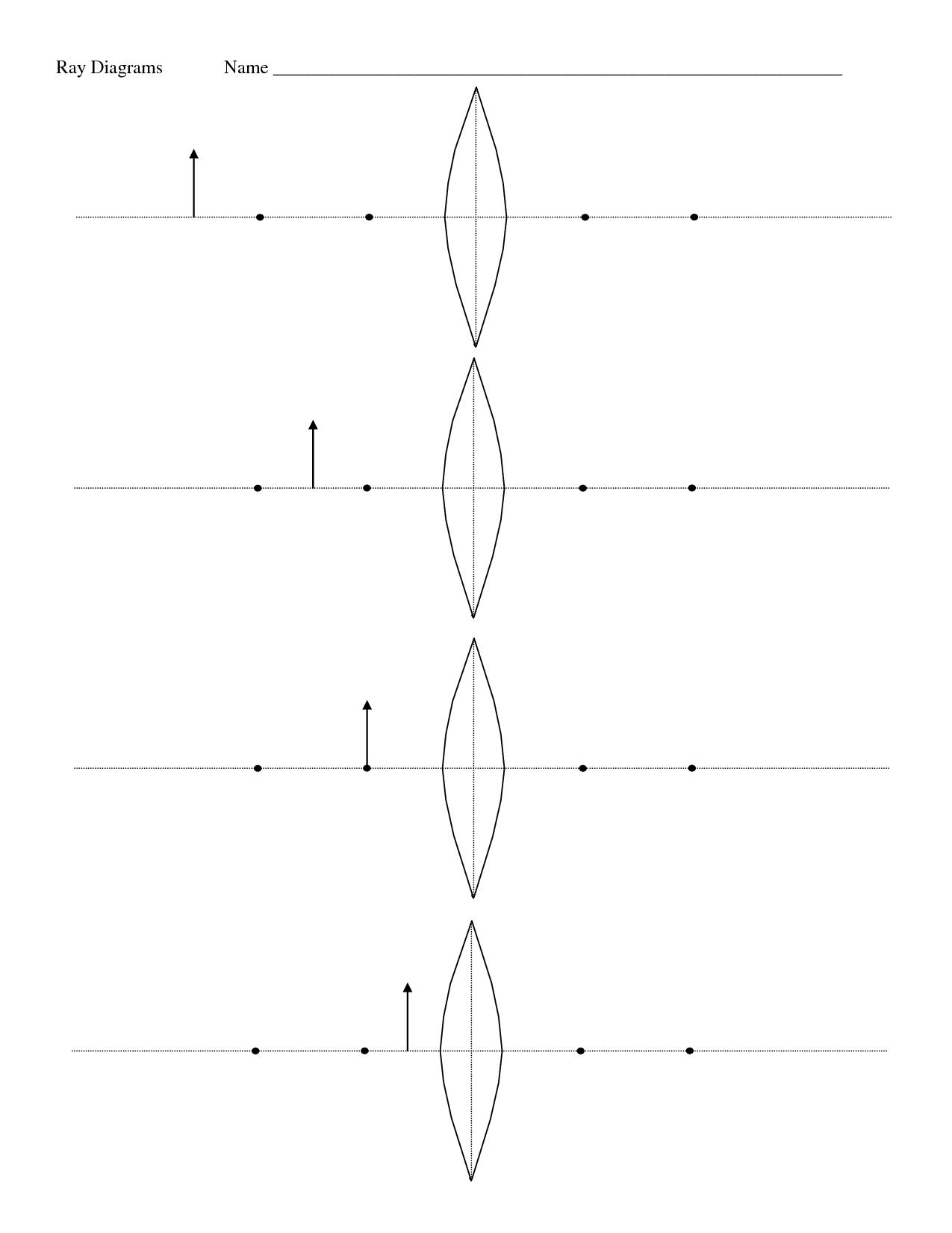 light ray diagram worksheets 24 volt trolling motor wiring 10 best images of convex lenses practice worksheet key