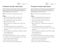 17 Best Images of Periodic Table Basics Worksheet ...