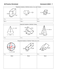 14 Best Images of Volume Of Shapes Worksheets - Surface ...