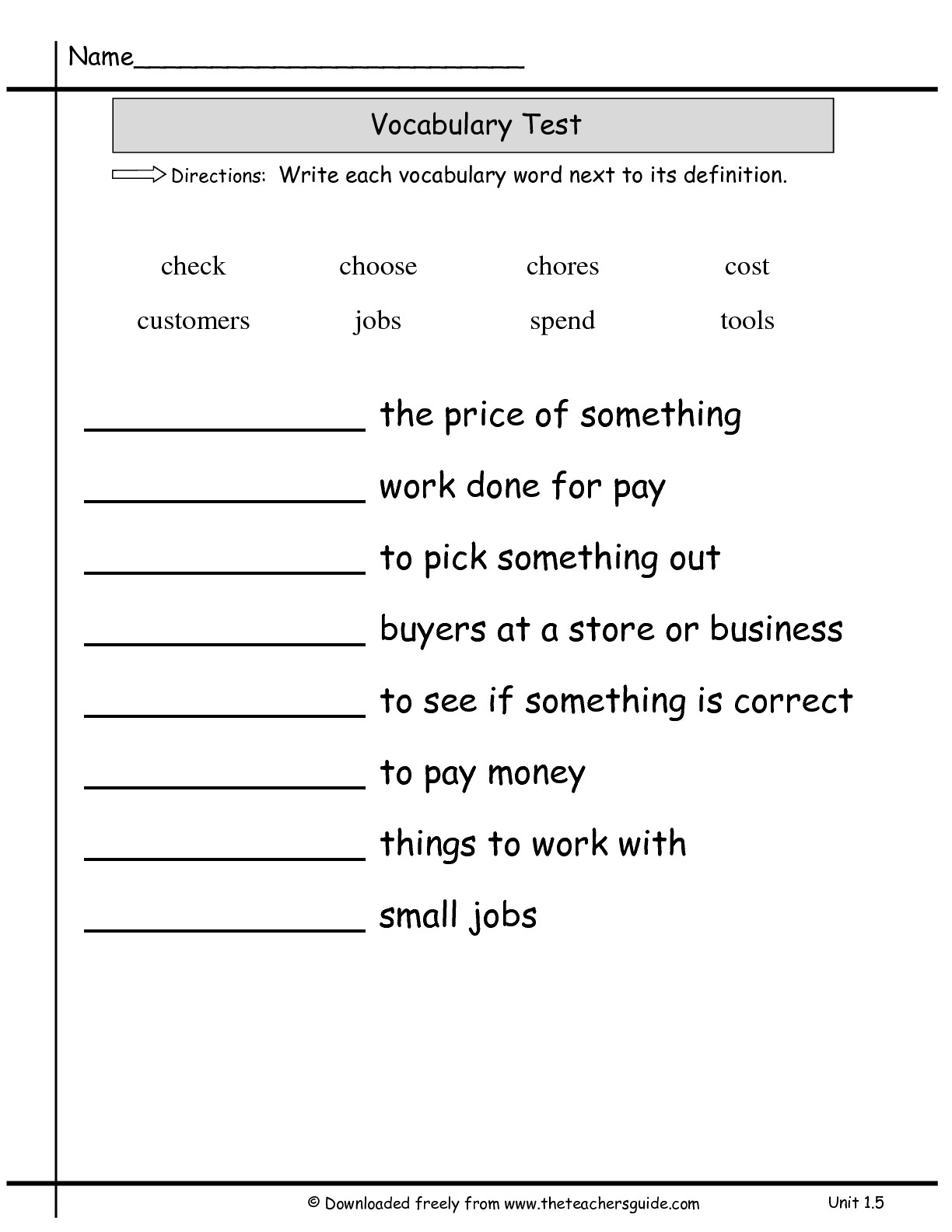 hight resolution of 2nd Grade Reading Worksheets Vocabulary   Printable Worksheets and  Activities for Teachers