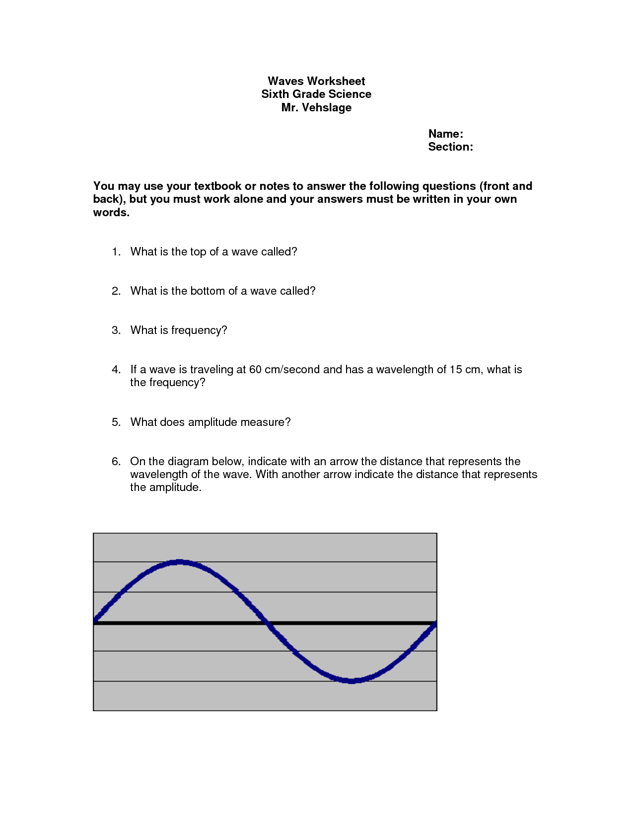 Wavelength Equation Worksheet