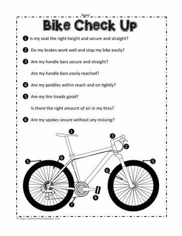 Bike Safety Worksheets