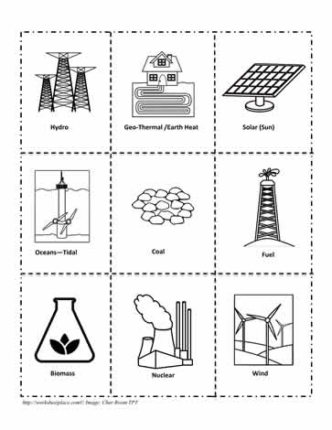 Energy Clipart Worksheets