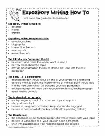 Writing an expository essay lesson plan mistyhamel