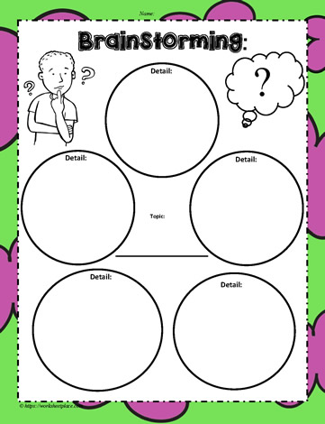 Topic Brainstorm Worksheets