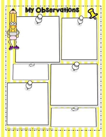 My Observation Graphic Organizer Worksheets