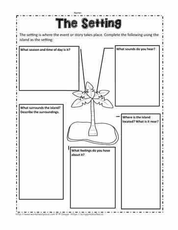 Settings Worksheets