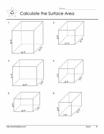 Area of Prism Worksheets