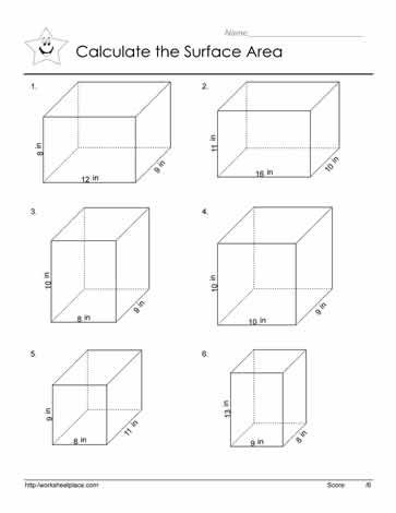 Made by Teachers: Geometry Surface Area Worksheets
