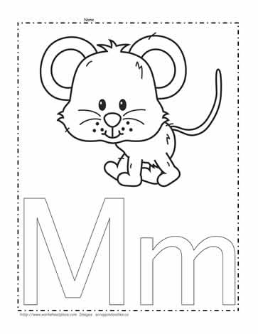 m coloring page # 4