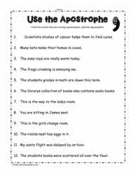 Apostrophe Worksheets