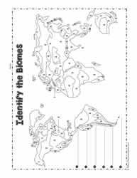 Biome Map Coloring Worksheet Questions