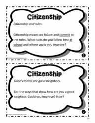 Citizenship Worksheets