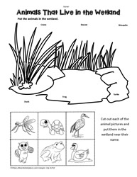 Animal Habitat Worksheets