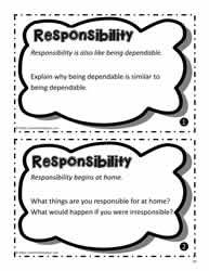 Responsibility Worksheets