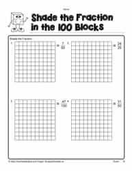 Shade the Fractions Worksheets