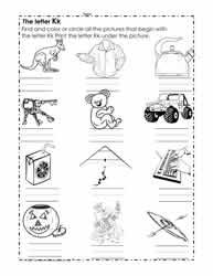 Initial Consonant Worksheets