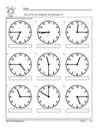 Telling-Time-To-Quarter-Hour-Worksheets