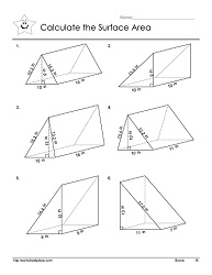 Triangular Prisms Worksheets