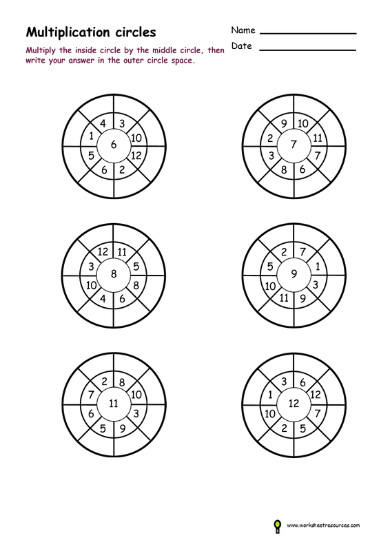Times table worksheets free printable activities