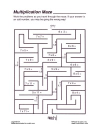 Free Math Maze Worksheets. Free. Best Free Printable