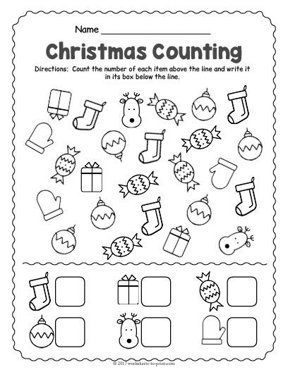 Christmas Counting Worksheet
